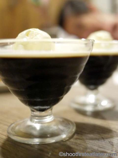sumiyaki coffee jelly with ice cream P90