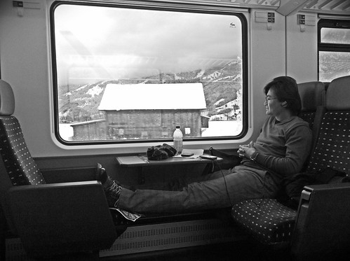 On the train through the alps by ontourwithben