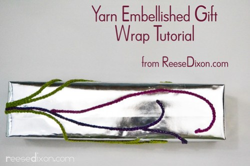 Yarn Embellished Gift Tutorial