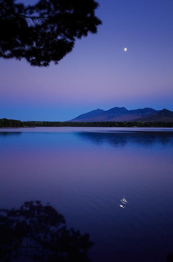Moonrise Over Flagstaff Lake, Maine