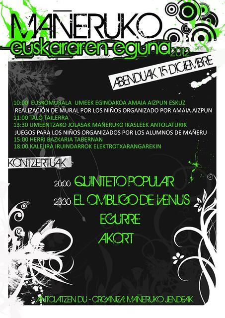 Kartela: euskararen eguna 2012