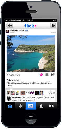 Flickr per iPhone