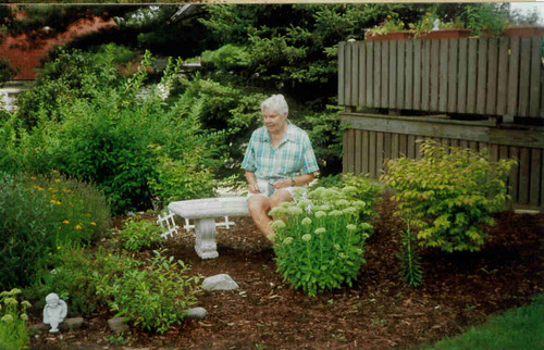 Mother in Corner Garden