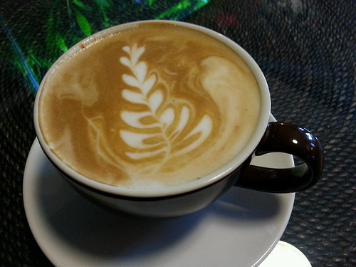 Caramel latte at @thecoffeebuddah by Krissy @ Sugar Pixie