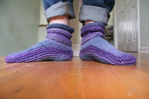 knitted :: Handspun Mukluks