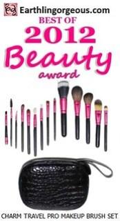 EG Beauty Awards 2012 Charm Travel Pro Makep Brush Set