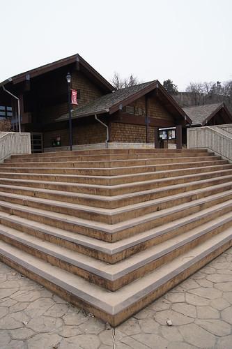 Steps to Starved Rock Visitors Center