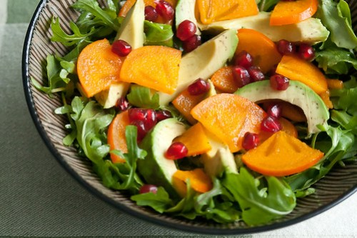 Persimmon and Avocado Salad
