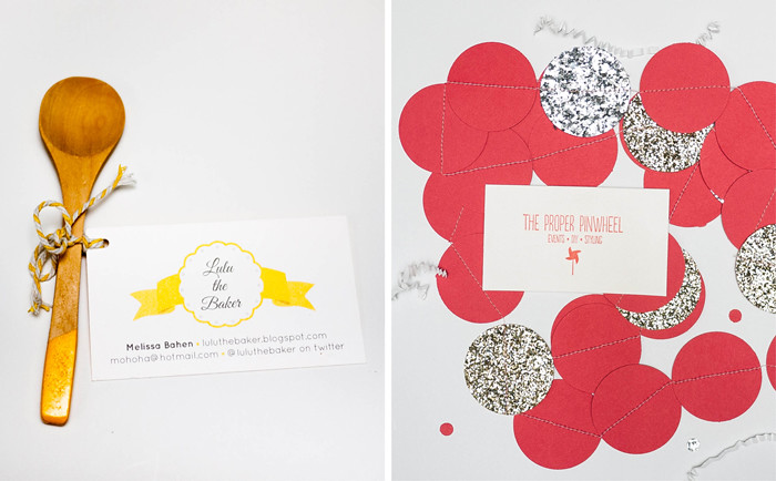 Alt Summit Business Cards - The Proper Pinwheel and LuLu The Baker