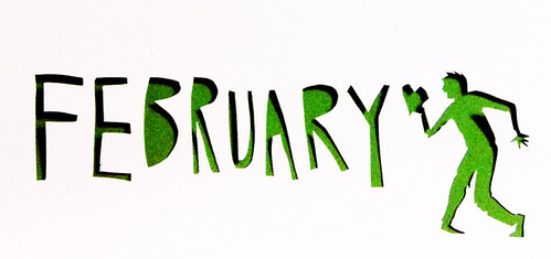 2013 February Calendar illustration