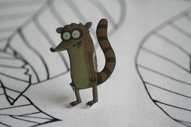 Handmade Rigby Regular Show Brooch