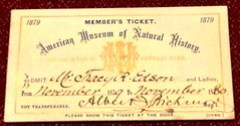 1872 AMNH ticket of admission