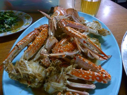 Crab, seafood in sabah