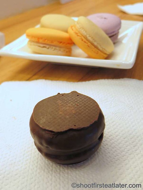Gourmandise Patisserie- chocolate covered salted macaron P65
