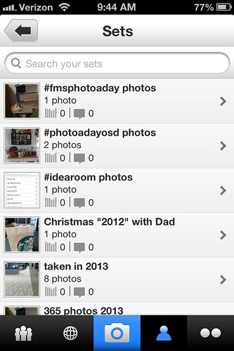 #idearoom organized ... since I want to take so many pictures this year I figure I'd better organize them well