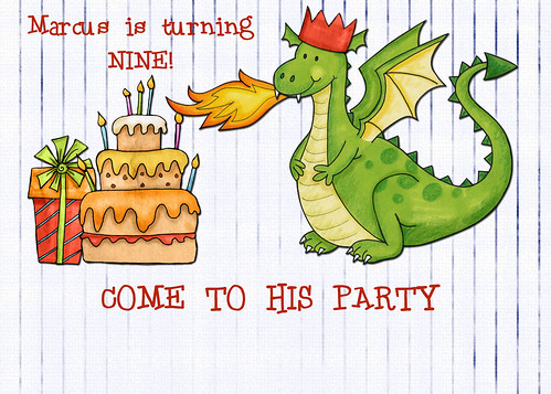 Marcus' Birthday Invitation by rocalisa