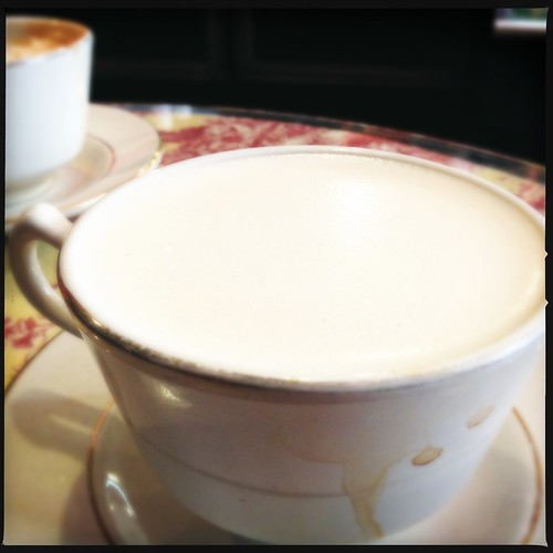 A cup of chai latte
