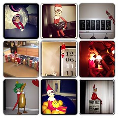 Elf on the shelf antics 2012