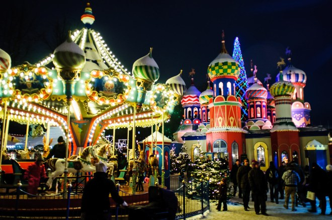 Christmas Tivoli at Night