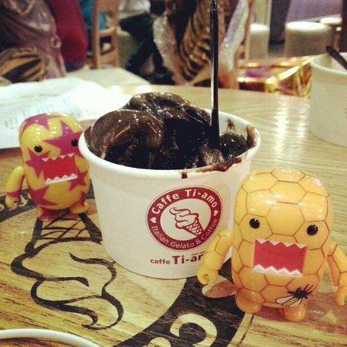 Domo-kuns' Caff? Ti-amo gelato #foodporn
