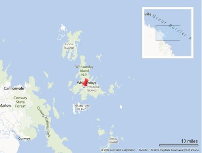 Whitsundays map