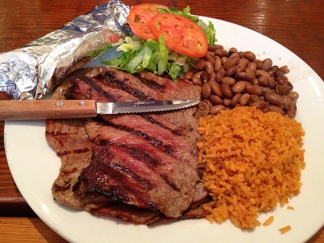 Carne asada plate - Cancun Sabor Mexicano