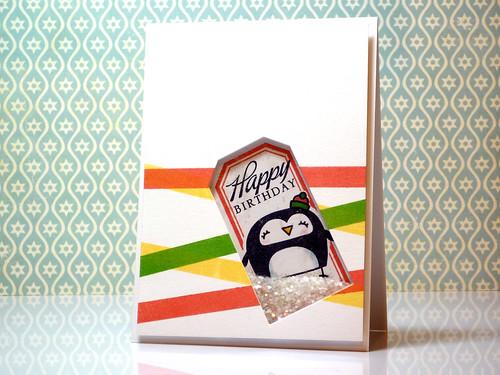 Birthday Shaker Penguin