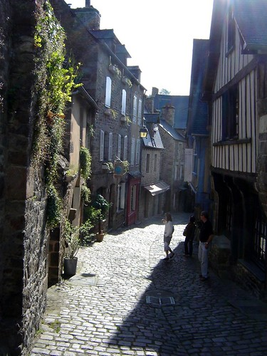 shadows in Dinan Brittany