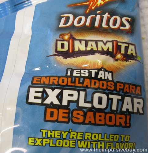 Doritos Dinamita Chipotle Crema Rolled Tortilla Chips Bag Back Top