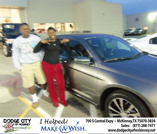 CONGRATULATIONS TO KATINA SCRIVENS  ON THE 2013 CHRYSLER 200 by Dodge City McKinney Texas