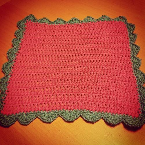 #crochet wash cloth for Karítas