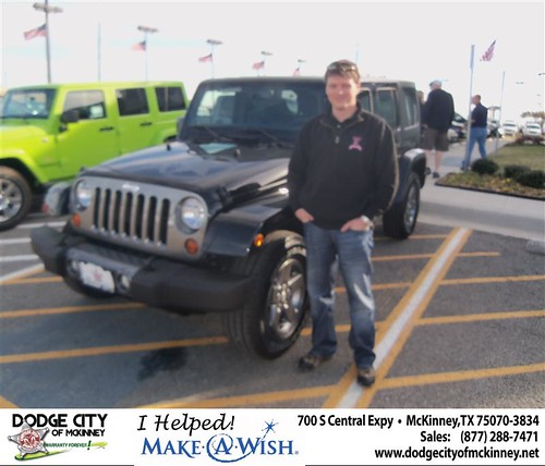 Congratulations to Stephen Harmon on the 2013 Jeep Wrangler by Dodge City McKinney Texas