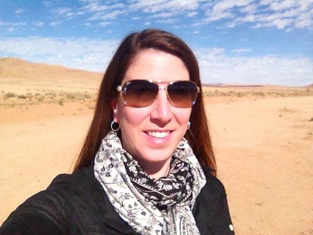 self portrait in the desert