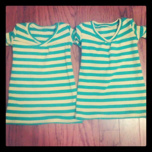 Matching dresses for Becca and her cousin