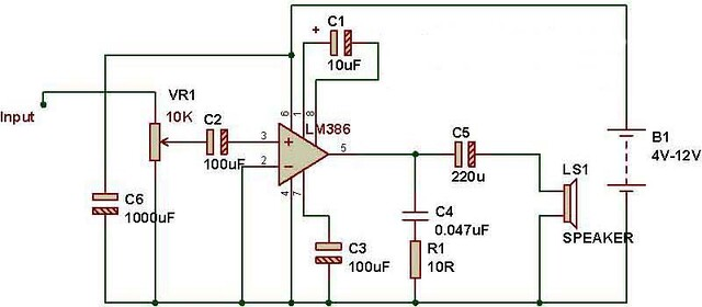 Audio Amplifier using FM kit and Lm386