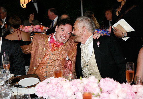 Mr. Andrew Solomon and Mr. Habich at Their Wedding Dinner