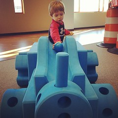 Brandon and Charlie want a set of these blocks for home #foamtrain #myhusbandisawesome