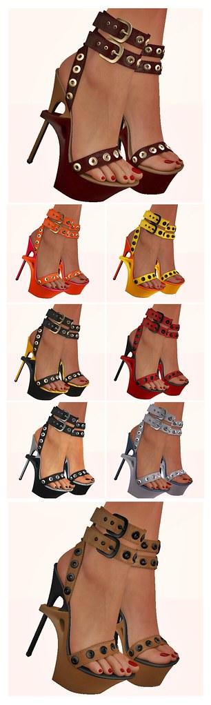 Celoe - Amae Sandals - Duo Color Pack
