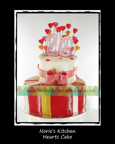 Norie's Kitchen - Hearts Cake by Norie's Kitchen