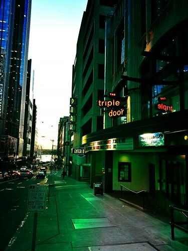 Outside the Triple Door, Seattle, Washington by pgsvensk