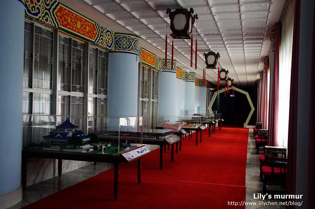 走廊另外一側展出目前中國現存的民國時期建築模型。