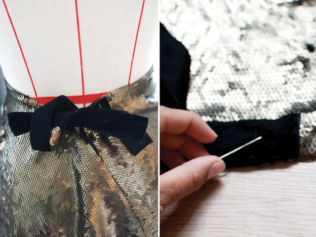 DIY sequin maxi skirt