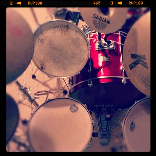 the office. #drums #drumset #cymbals #music #pearldrums #swag #instaswag #photooftheday #instagood