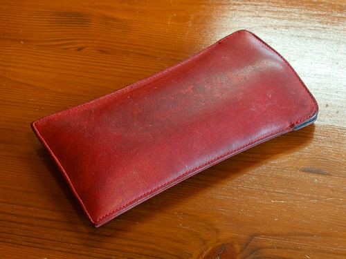 Coach Eyeglasses Leather Case (Before)