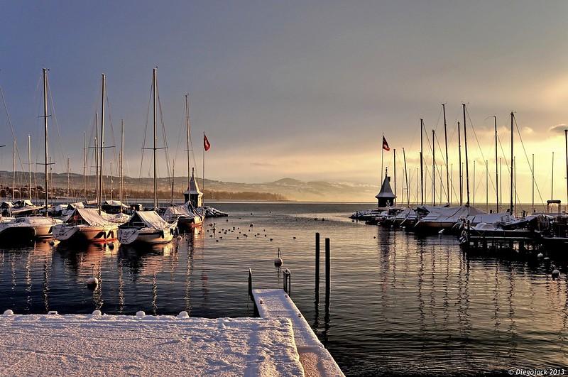 Un matin d'hiver au port