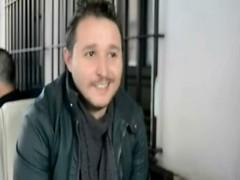 Miguel González, durante la entrevista
