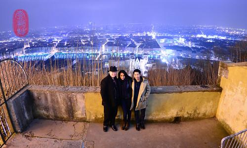 Lyon at night.