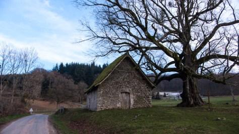 The chapel in Le Mas Saint Jean, France