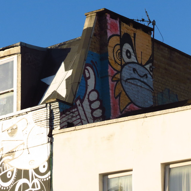 Kentish Town Road street art - featuring Mighty Mo