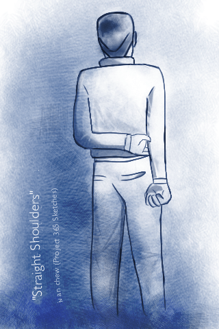 """Straight Shoulders"" (#16: Project 365 Sketches)"
